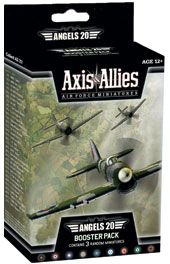 Axis and Allies Miniatures Angels 20 Air Force Booster Game Set 3 aircraft miniatures and 1 map Pre-painted and assembled This is an expansion to the base game Hex Map, Miniature Bases, Avalon Hill, Wizards Of The Coast, The Expanse, Air Force, Miniatures, Angels, Games