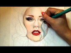 Copic and Prismacolor Drawing: Ultraviolet - YouTube