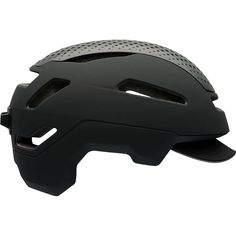 This Bell helmet was designed for the urban commuter. The helmet borrows features from Bell's high-end road helmets and pairs them with modern lines and color schemes.