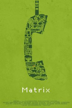 Matrix - Designer Creates Posters Of Movies, Using Cult Objects Of The Movies
