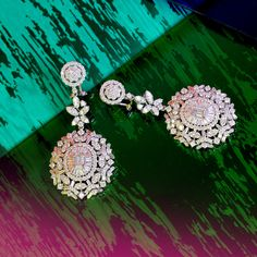 Diamond Studs, Diamond Rings, Diamond Jewelry, Jewelry Patterns, Designer Earrings, Ring Earrings, Indian Jewelry, Mink, Jewelry Bracelets