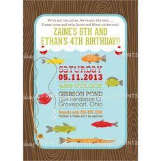 Printable Fishing Birthday Party Invite
