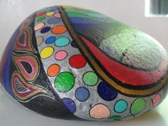 Slumgullion OOAK Hand Painted Rock by CCRockCreations on Etsy