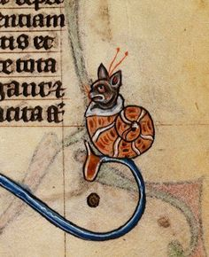 SNAILCAT Book of Hours ('The Maastricht Hours'), Liège 14th century. BL, Stowe 17, fol. 185r