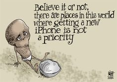 HUNGER AND iPHONES .... Priority? 9.20.13