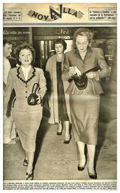Piaf e Marlene Dietrich (New York)