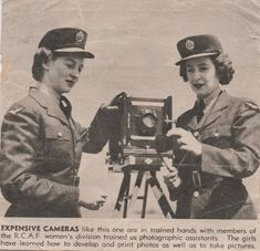 These two girls served in the RCAF as photographers. I knew personally the woman on the left, whose name was Dorothy Edwards of Battleford, Saskatchewan. Read about my love for wartime history at www.elinorflorence.com.