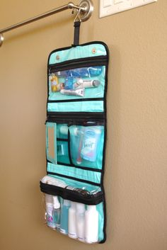 simply organized: organized travel: toiletry bags