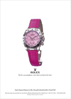 First Rolex Mens Rolex Watch For Women Ladies White Gold Daytona Pink Mother Of Pearl Dial