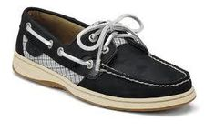 Women's Sperry Bluefish Black and Silver Plaid Must See   eBay