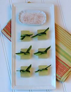 Jelly Shot Test Kitchen: End of Summer Jelly Shots - Cucumber-Lime Margarita