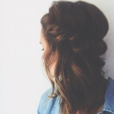 Beautifully braided hair. Now if I could just find that bobby pin!