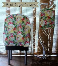 How to Make Bird Cage Covers. I've updated the steps, added a few resources that will have you sewing up your own custom bird cage covers in no time flat! See this sewing DIY, and more sewing projects at DearCreatives.com #sewing #sew #diy #birdcagecovers #tutorial #howto