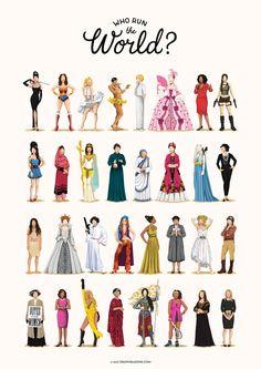 40x60cm No Frame Who Run The World Music Poster Die Zukunft ist weiblich Print Girlboss Geschenk f/ür ihren Spa/ß Pop Art Feminismus Wandbilder f/ür Schlafzimmer