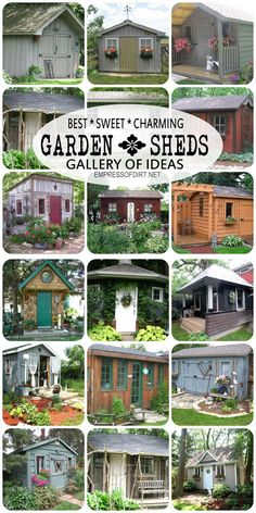 Gallery of best garden sheds-check out the website Empress of dirt. Lots of gardening & DIY ideas. It's fun.