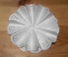 Card Art Kilcoole Tutorials: Tutorial for Pleated Lace Doily Rosette, and Double Easel Card
