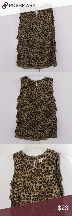 Michael Kors Tiered Ruffle Top Sz P Excellent condition. Size is P, looks like it could fit XS or S. Sold as shown. Michael Kors Tops Tank Tops