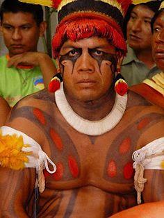 indiginous headhunter face painting   Pintura Corporal Indígena