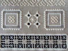 Threads Through Time: 1711 MSI SAMPLER; PULLED THREAD/WHITEWORK SAMPLER