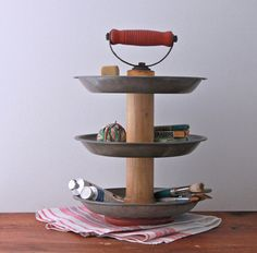 3 Tier Desk Supply Organizer Caddy from Repurposed by seelamade, $65.00
