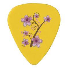 Custom Floral Guitar Pick