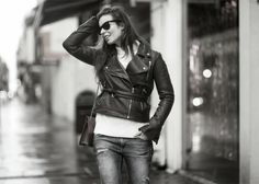 the belted leather jacket