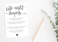 Late Night Diapers Baby Shower Game Baby Shower Game