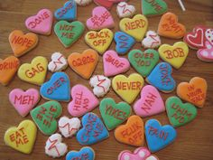 Serve cookies inspired by conversation hearts. | 24 Ideas For Throwing The Perfect Anti-Valentine's Day Party