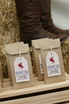 little cowboys   The lolly bags for our little cowboys and cowgirls using the Anders ...
