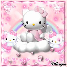 hello kitty angel angel and devil Cute Gifs, Melody Hello Kitty, Pink Hello Kitty, Pink Cat, Hello Kitty Wallpaper, Sanrio Characters, Pink Walls, Cute Icons, Soft Grunge