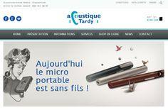 Refonte du site ecommerce #acoustiquetardy à Genève en Suisse. Acoustique Tardy a fait confiance à notre agence web pour la refonte de son site web http://www.acoustique-tardy.com/