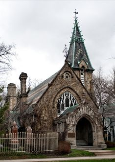 This is the church beside the Necropolis enctrance in the historic Cabbagetown Neighborhood of Toronto.