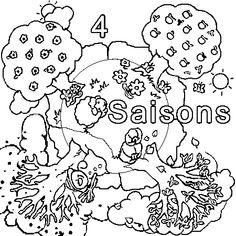 Coloriage Saisons à colorier - Dessin à imprimer