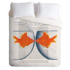 Coco de Paris Goldfish Love Duvet Cover | DENY Designs Home Accessories