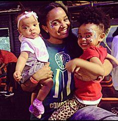 Kyla Pratt and daughters