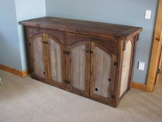 Custom Rustic Furniture by Don McAulay Rustic Cabinets For Sale: Rustic TV Lift Cabinet 4 door: