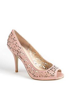 Mega Star Leather Laser-Cut Pumps | Lord and Taylor