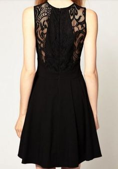 Black Sleeveless Lace Bandeau Ruffles Dress - Sheinside.com Mobile Site