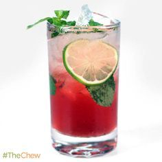 Pomegranate Mojito by Clinton Kelly! #TheChew #Cocktail #HappyHour