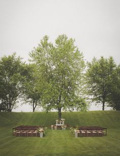"""A Whimsical Backyards Wedding"" via Green Wedding Shoes"