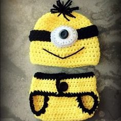 I just discovered this while shopping on Poshmark: Hand made: despicable me Crochet minion outfit ☺❤. Check it out! Price: $40 Size: 0-3 months , listed by creationsofhope