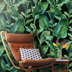 Large Murals Style Removable Wallpapers can transform your walls. Self adhesive Temporary Removable Wallpaper. Shop our Tropical Leaf Pattern Design.