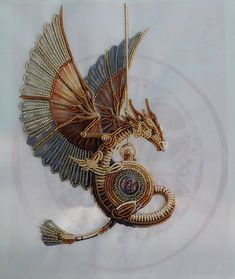 perlen-set-steampunk-dragon-nadelspitzen-sets-diy-etsy-diy-dragon/ - The world's most private search engine Bead Embroidery Patterns, Bead Embroidery Jewelry, Hand Embroidery Designs, Embroidery Kits, Beaded Embroidery, Beading Patterns, Embroidery Stitches, Beading Ideas, Beaded Cross Stitch