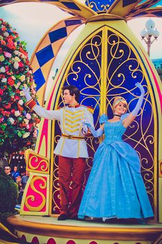Prince Charming and Princess Cinderella <3 Festival of Fantasy Parade <3