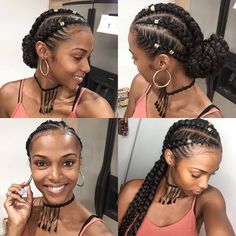 pitre Christmas Braids, Yes please!Tutorial coming soon❤️❤️ Kersti Anear.pitre Christmas Braids, Yes please!Tutorial coming soon❤️❤️Kersti Anear.pitre Christmas Braids, Yes please!Tutorial coming soon❤️❤️ Box Braids Hairstyles, Girl Hairstyles, Protective Hairstyles, Protective Styles, Hairstyles 2018, Braided Hairstyles For Black Hair, Natural Cornrow Hairstyles, Goddess Hairstyles, Wavy Hair