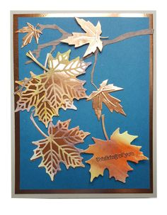 Colorful Seasons- Stampin' Up! Homemade Birthday Cards, Homemade Cards, Maple Leaves, Autumn Leaves, Halloween Cards, Fall Halloween, Crea Design, Leaf Cards, Thanksgiving Cards