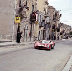 Targa Florio, 1956: Nino Vaccarella/Lorenzo Bandini (Ferrari 330P3) on the Little Madonie Circuit during the Targa Florio.