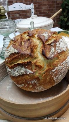 ZELINHA: PÃO DE TRIGO NO TACHO Irish Soda Bread Recipe, Bread Bun, Italian Bread, Bread Baking, Bread Recipes, French Toast, Food And Drink, Breakfast, Stuffed Italian Bread