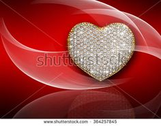 Heart diamond composition. Valentine's day abstract background