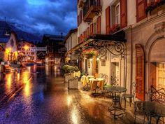Street cafe in Zermatt, Switzerland